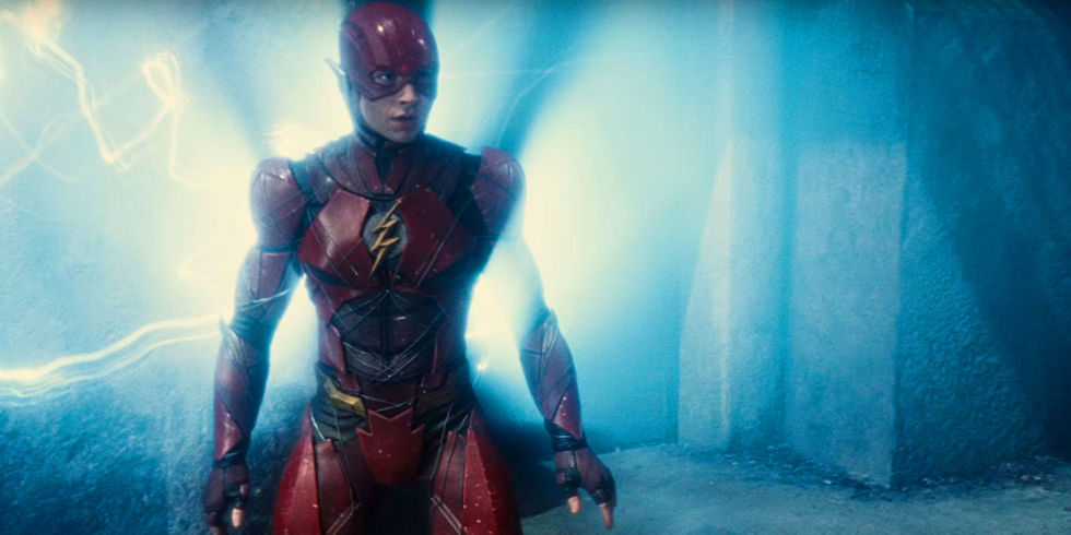 """Ezra Miller as the Flash in """"Justice League,"""" which comes out Nov. 17, 2017"""