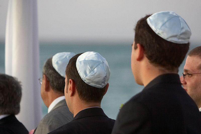 image of men wearing kippahs