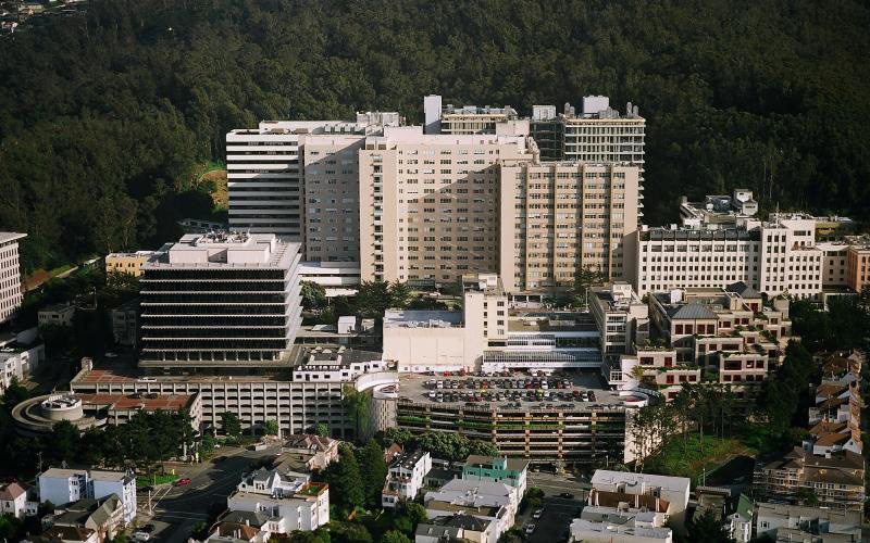 The Parnassus campus of UCSF in San Francisco