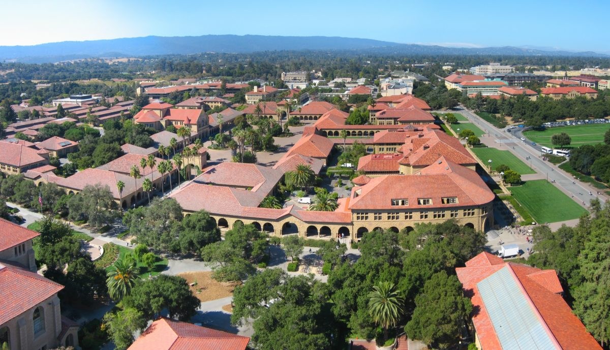 Stanford University's campus from above / Wikimedia Commons