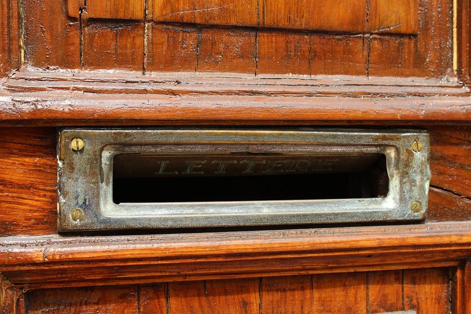 slightly open mail slot