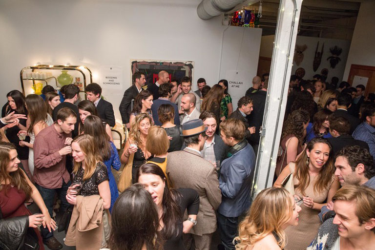 crowded party