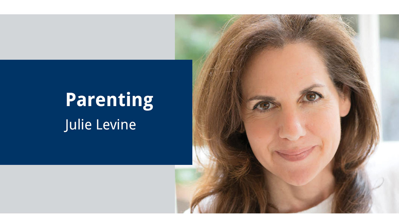 """Parenting — Julie Levine"" graphic"