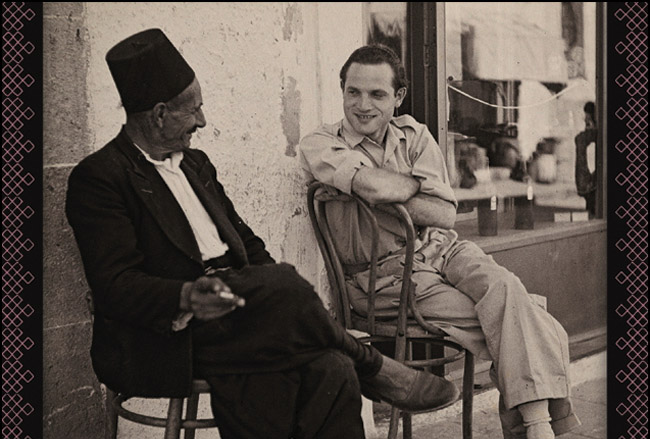 historical image shows muslim and jewish men chatting