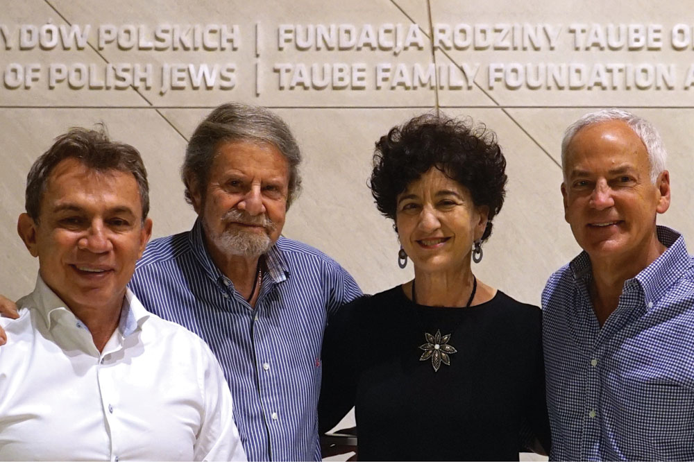 Tad Taube (second from left) in Poland, where his foundation supports a number of projects, including the Krakow Jewish Festival and the Polin Museum.