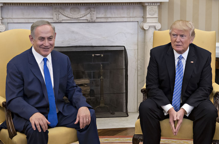 Trump and Bibi seated in the Oval Office