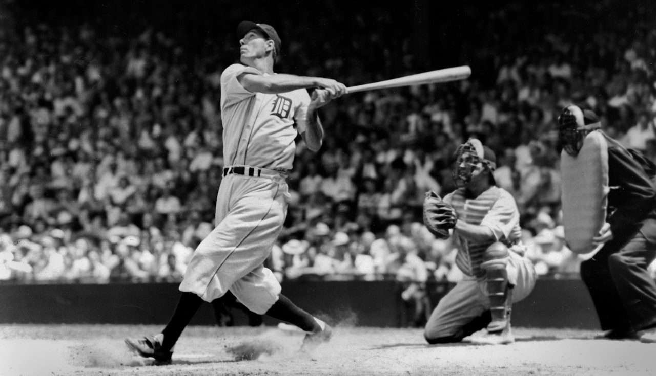 Hank Greenberg batting for the Detroit Tigers in 1935. (Photo/JTA-Getty Images-The Sporting News Archives)