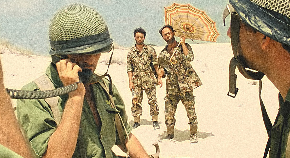 """A scene from the digitally restored version of """"Avanti Popolo,"""" a 1986 comical saga about the 1967 War"""