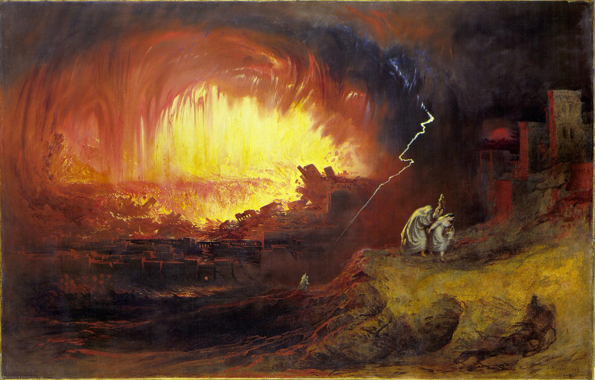 """The Destruction of Sodom and Gomorrah,"" John Martin, 1852"