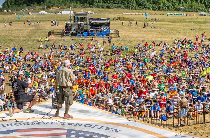 At the 2017 National Scout Jamboree, a sea of Boy Scouts set a new world record for dreidels spun simultaneously.