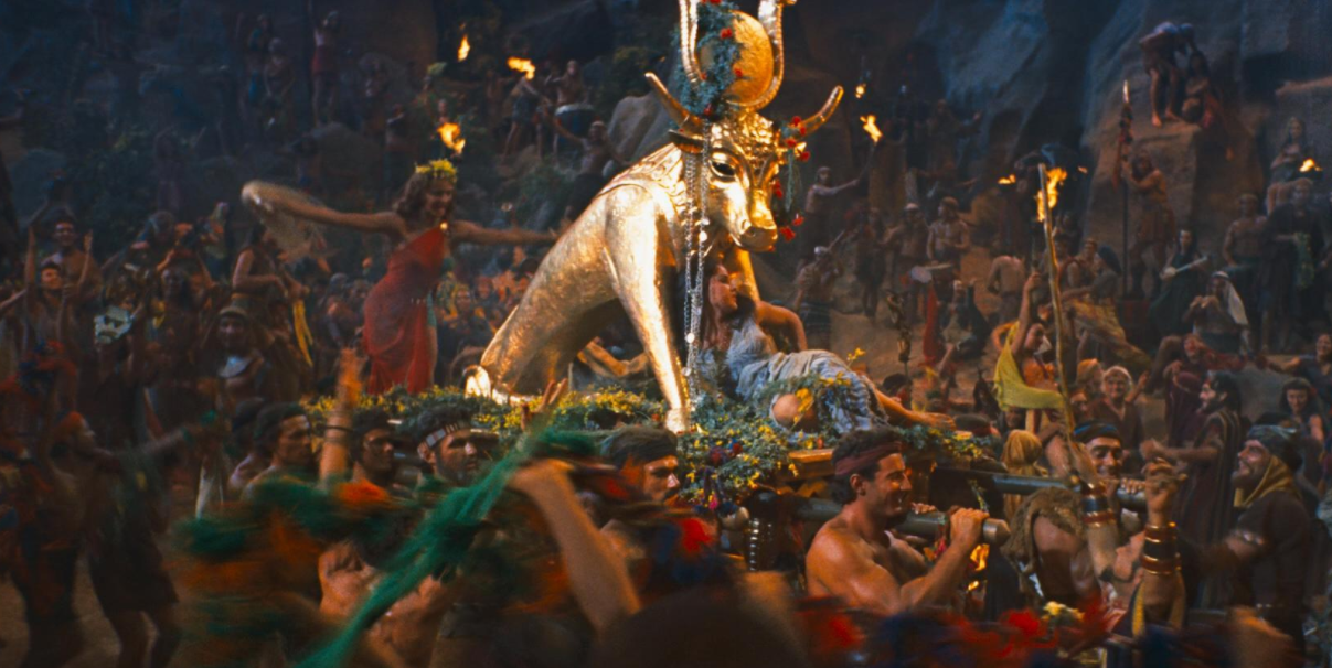 "The Golden Calf, as seen in the 1956 film ""The Ten Commandments."""