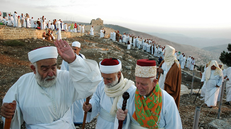 In this week's Torah portion, Re'eh, Moses directs the Israelites to pronounce blessings on Mount Gerizim. To this day, the Samaritans (an Israelite, but non-Jewish group) make an annual pilgrimage to Mount Gerizim. (Photo/Wikimedia-Edward Kaprov CC BY-SA 3.0)