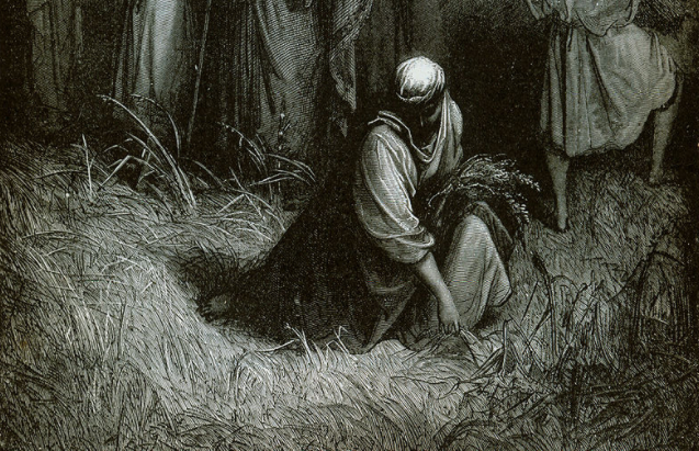 """This week's Torah portion introduces the commandment to leave fallen harvest in the field to be """"gleaned"""" by the poor, as illustrated here in """"The Gleaners"""" by Gustave Doré from the 1865 La Sainte Bible."""
