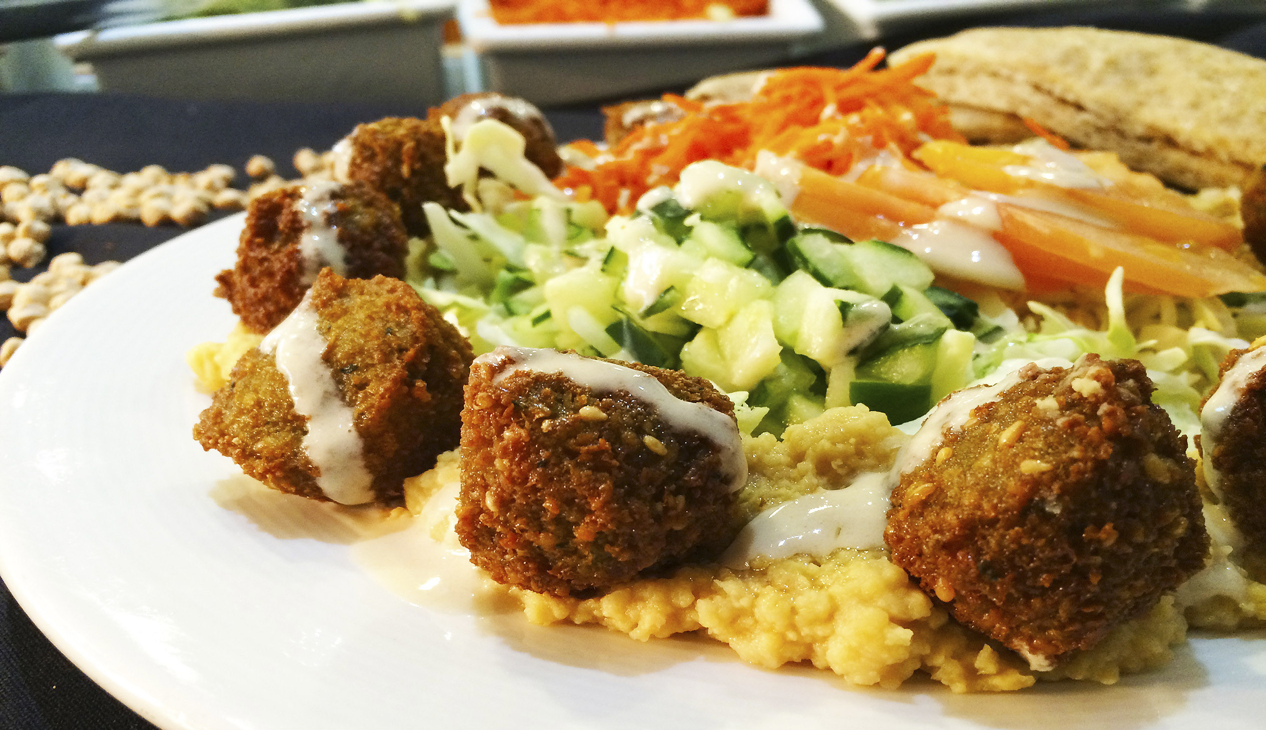 The Falafel Frisbee plate at Flying Falafel