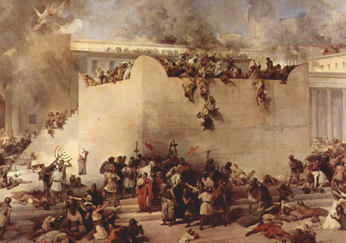 """Destruction of the Temple of Jerusalem"" by Francesco Hayez, 1867"