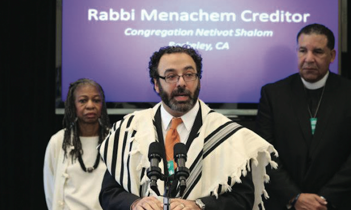 Rabbi Menachem Creditor speaking about gun violence at the White House in 2013 (Photo/Heather Wilson-Pico Network)