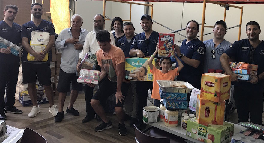 Eli Rowe's team of 12 delivered supplies to the San Juan Chabad, as well as to vulnerable areas throughout Puerto Rico's capital, Sept. 25, 2017. (Photo/Courtesy Eli Rowe)