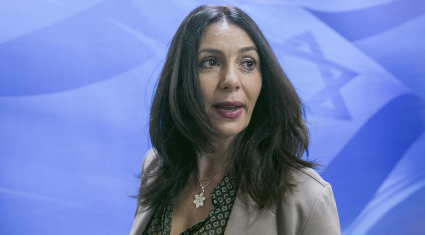 Israeli Minister of Culture and Sports Miri Regev arrives to the weekly cabinet meeting at the Prime Minister's office in Jerusalem on January 29, 2017. (Photo/JTA-Ohad Zwigenberg-POOL)