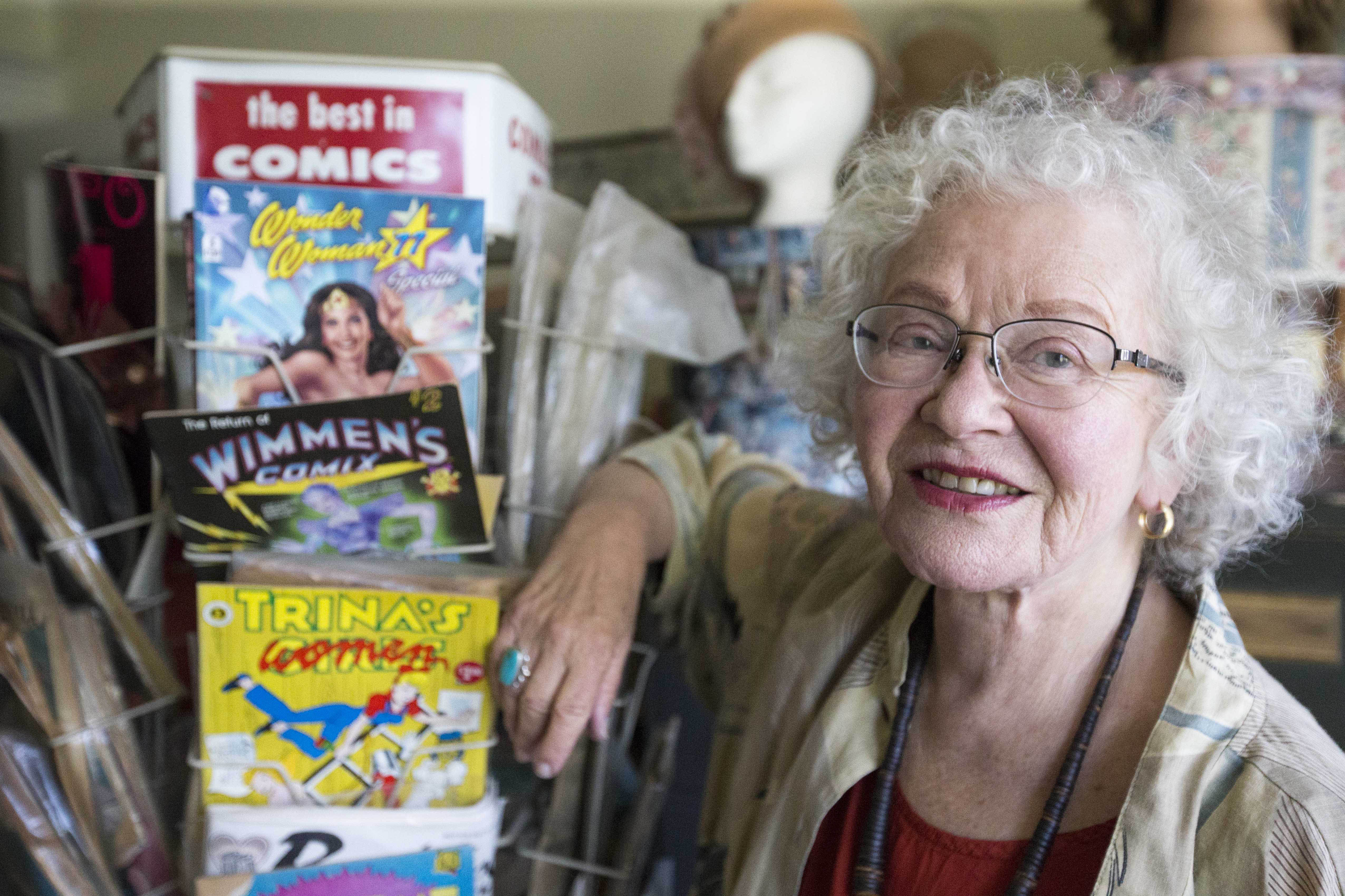 Veteran comics artist Trina Robbins has turned her father's book of Yiddish stories into a graphic novel. (Photo/Jessica Christian)