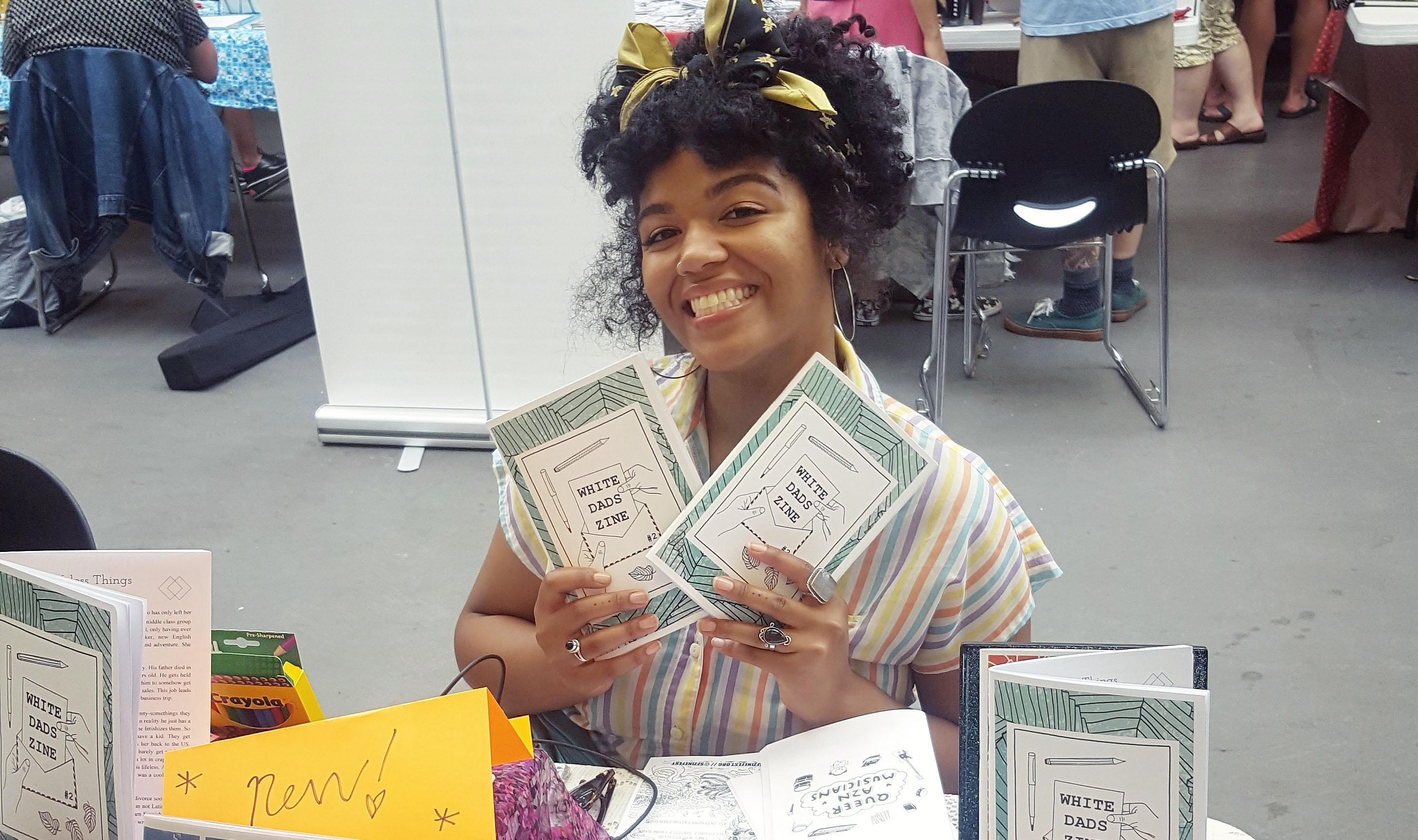 Sarah Grace Gladstone at San Francisco Zine Fest in September, 2017
