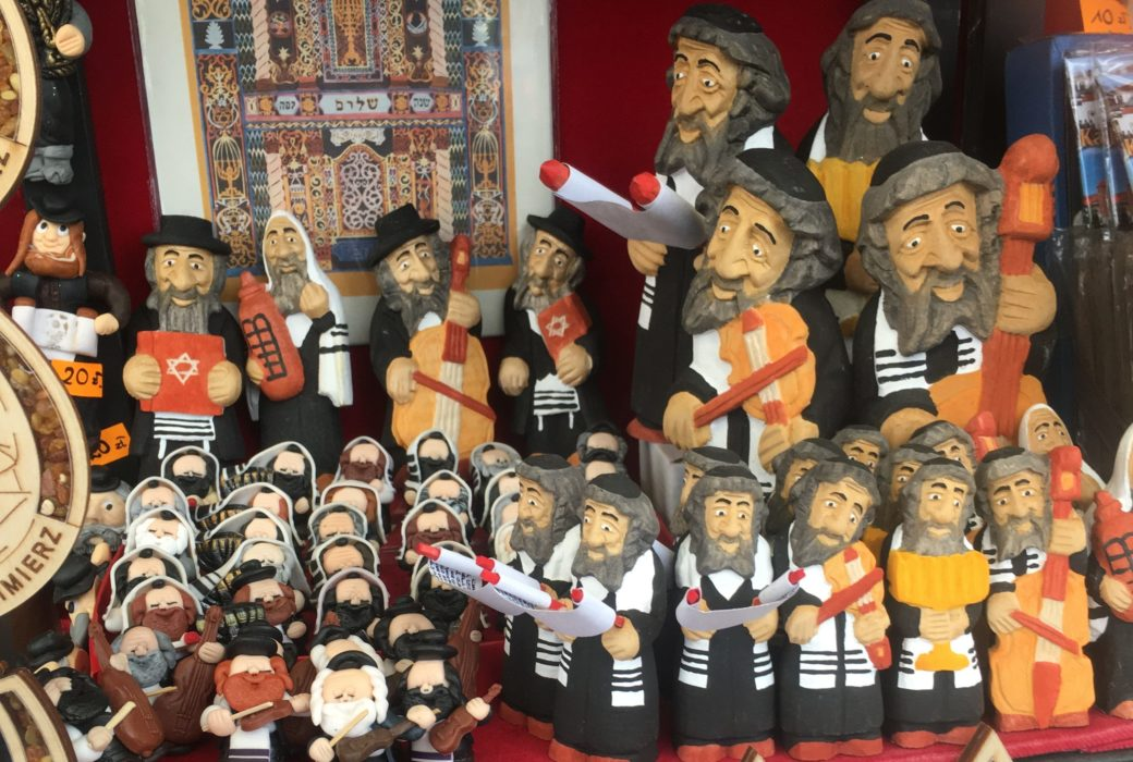Figurines of Jewish caricatures being sold by non-Jews in Krakow, Poland (Photo/Matthew Leber)