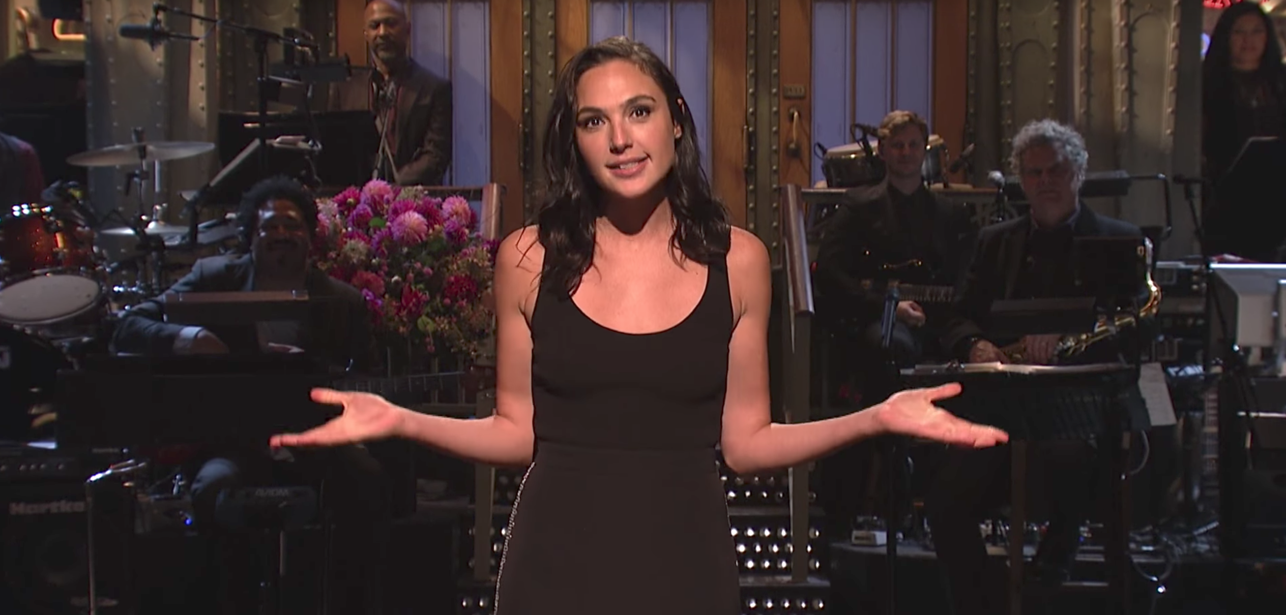 Israeli star Gal Gadot (best known at Wonder Woman) hosted Saturday Night Live. Oct. 7 2017