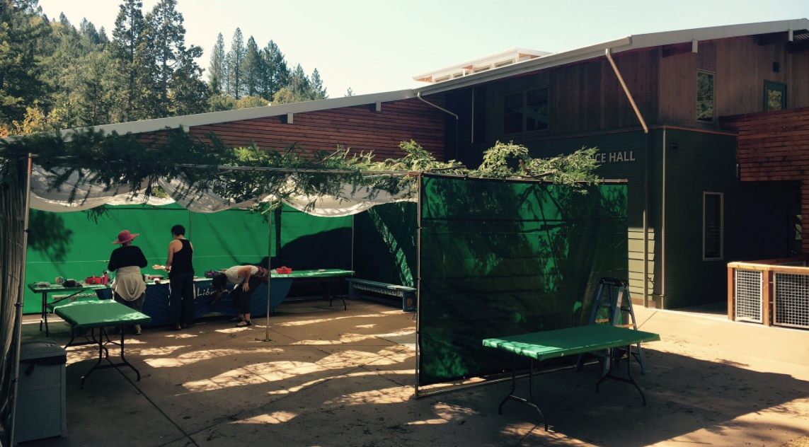 URJ Camp Newman's sukkah, Oct. 6, 2017. By Oct. 9, wildfires had destroyed most of the camp. (Photo/Facebook)