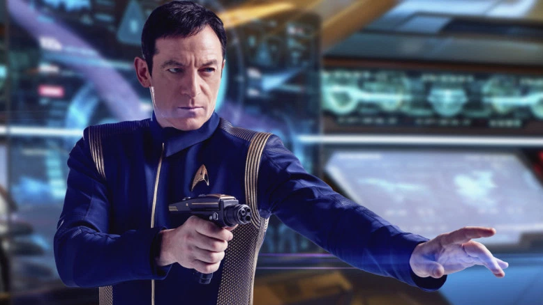 """British member of the tribe Jason Isaacs is the mysterious Captain Gabriel Lorca on """"Star Trek: Discovery,"""" the second Jew to play a Star Trek captain. (Photo/Courtesy CBS)"""