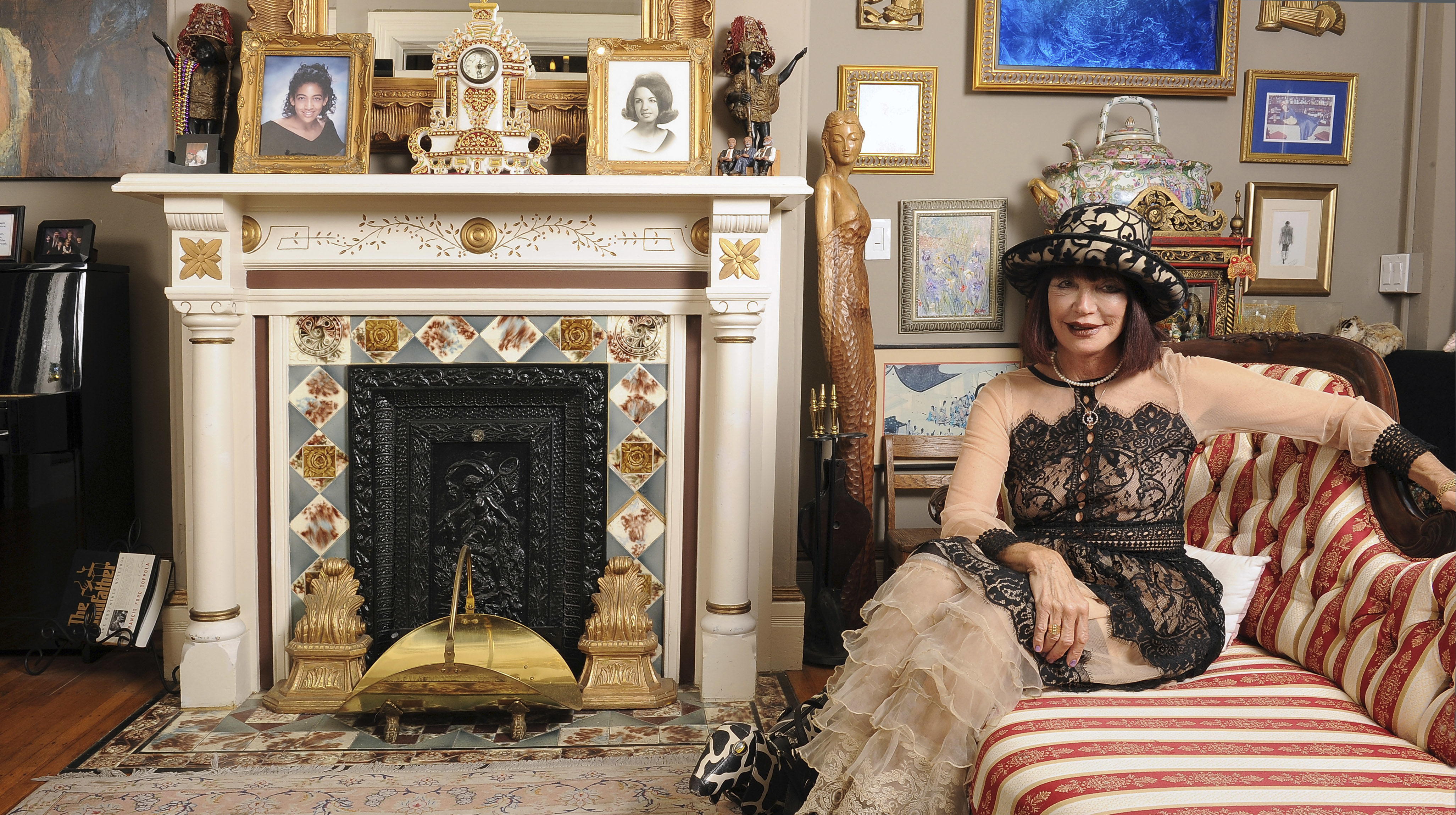 Sheila Ash in the sitting room of Noe's Nest, her San Francisco bed and breakfast. (Photo/Joyce Goldschmid)