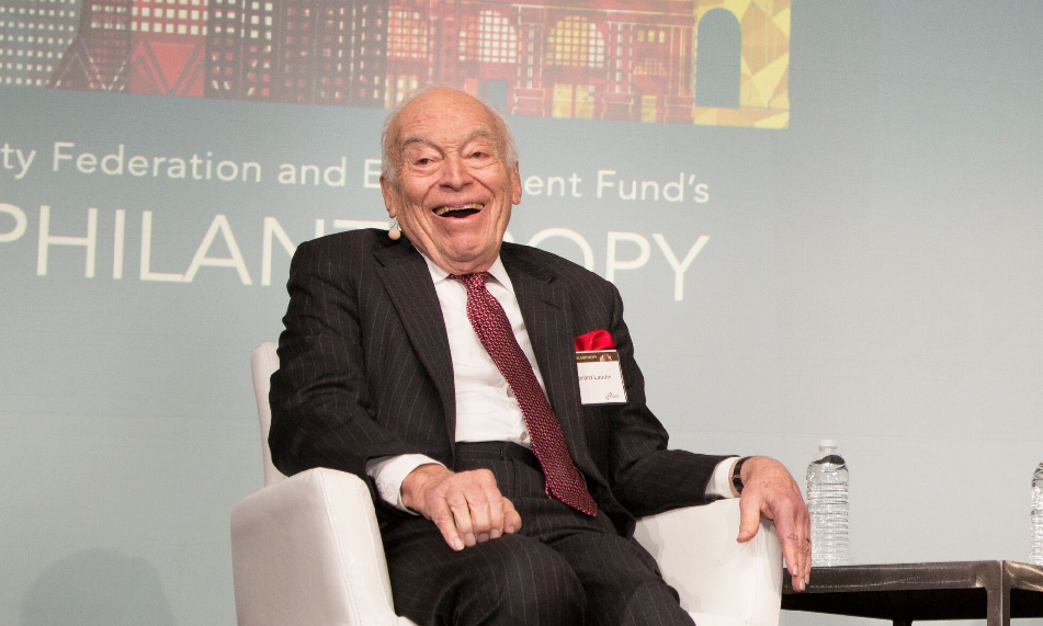 Leonard Lauder was honored at this year's Day of Philanthropy in San Francisco, Nov. 7 (Photo/Courtesy S.F.-based Jewish Federation)