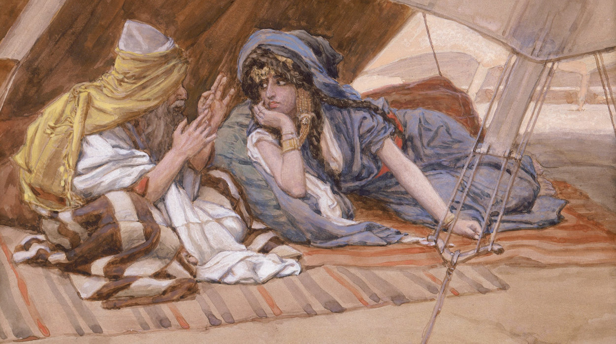 """Abraham's Counsel to Sarai"" by James Tissot, ca. 1900"