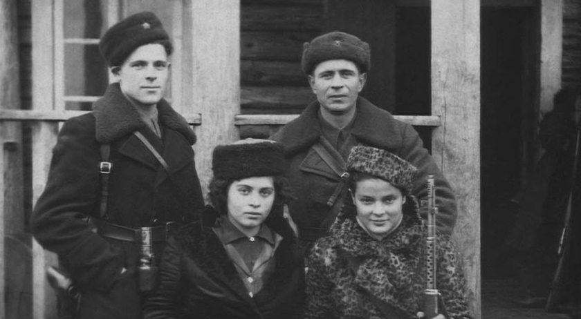Jewish partisan fighters in 1944