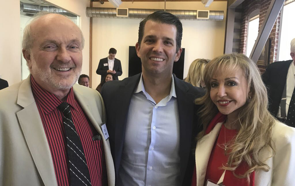 "Zvi and Ricki Alon with Donald Trump Jr. Says Ricki: ""We could not wish for a better friend. I'd vote for him again."""