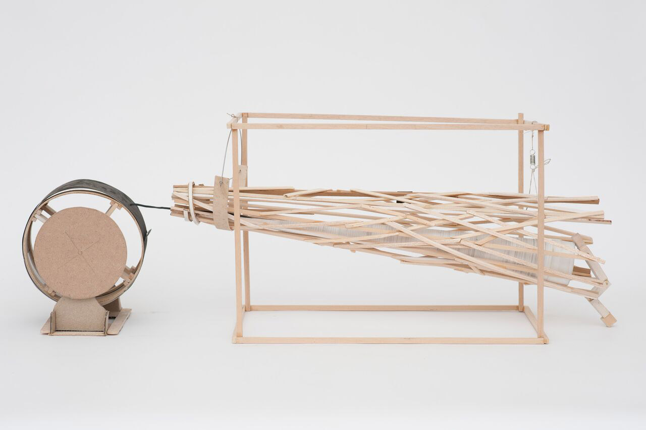 """Sheri Simons's """"After All"""" incorporates wood, soot and electronics (Photo/Oliver Hutton-Courtesy of the artist)"""
