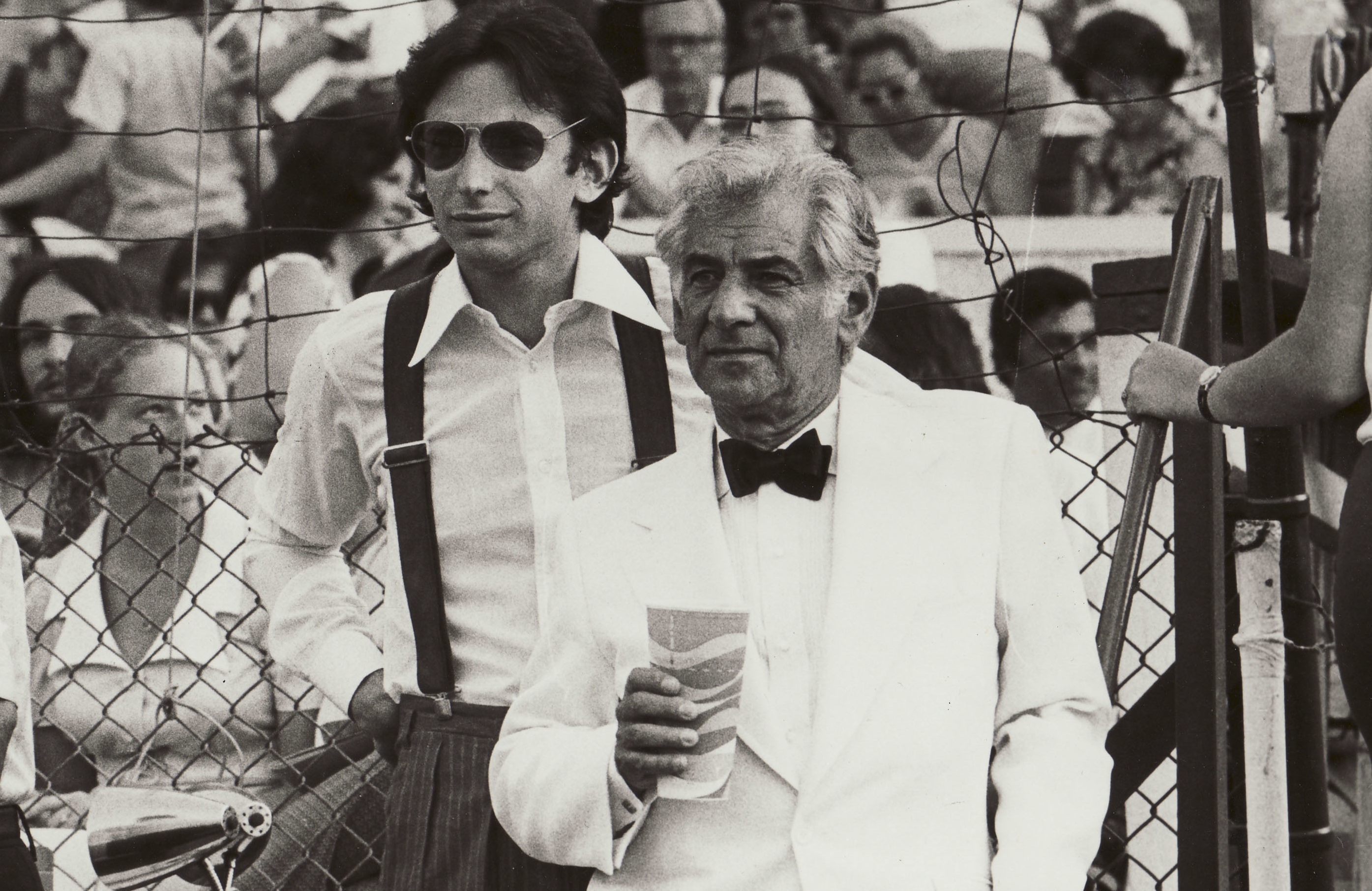 Michael Tilson Thomas and Leonard Bernstein at the Danbury State Fair, 1974 (Photo/David Gahr)