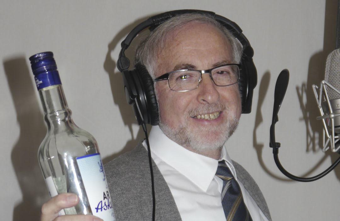 Rabbi Benzaquen in the recording booth
