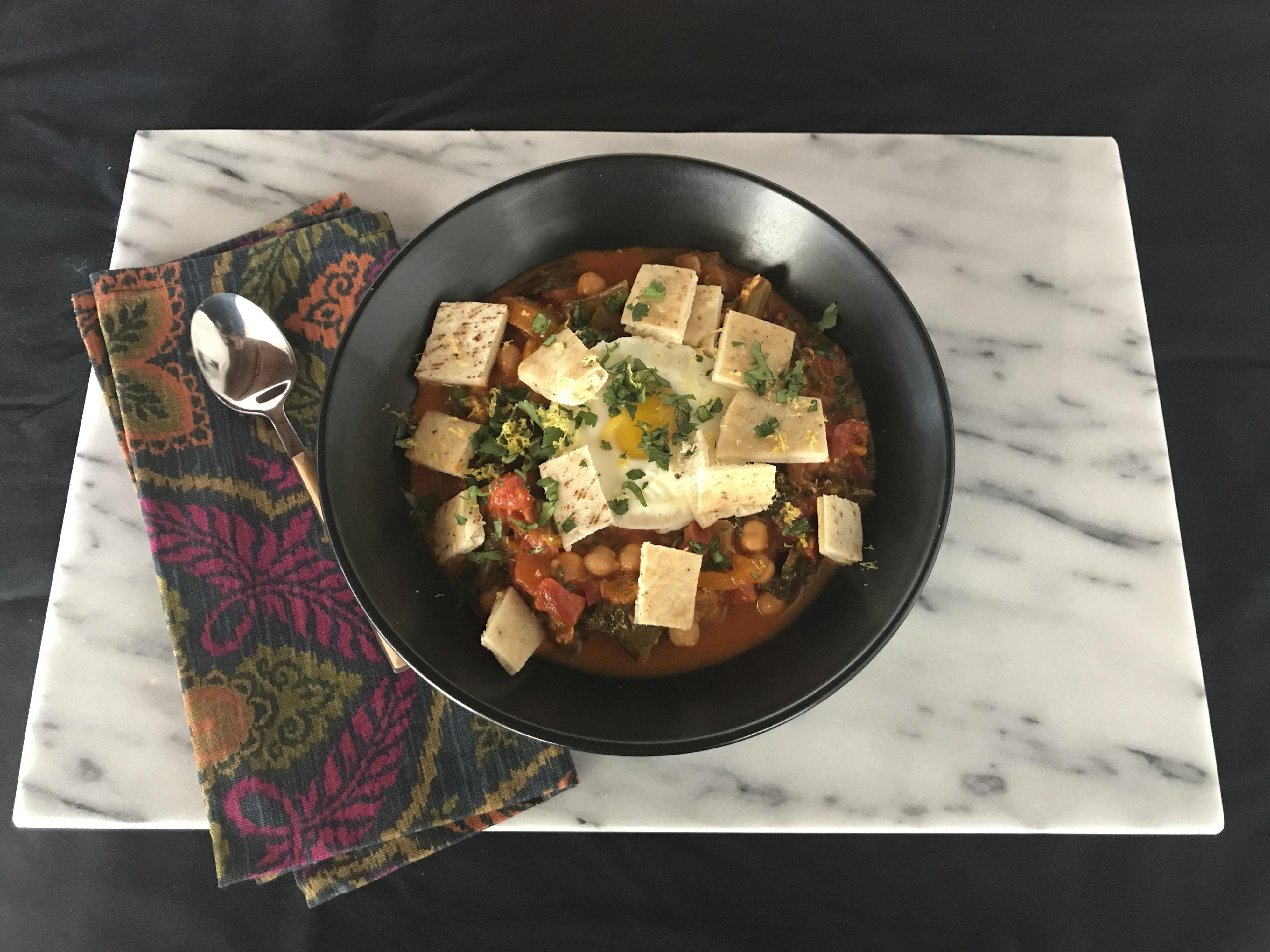 Faith Kramer's Supermarket Shakshouka Soup (Photo/Faith Kramer)