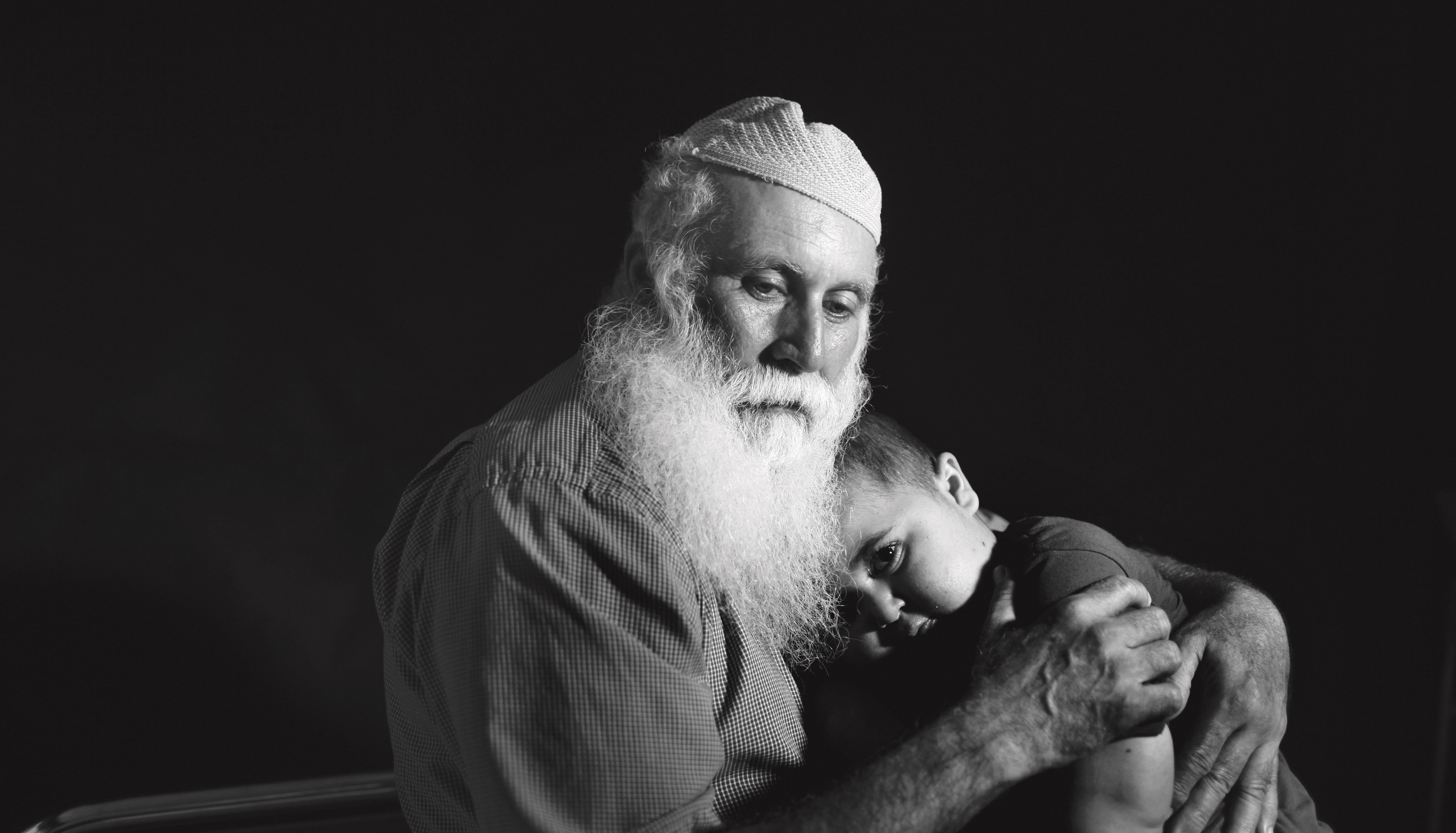 Muhi and his grandfather, Abu Naim (Photo/Courtesy Medalia Productions)