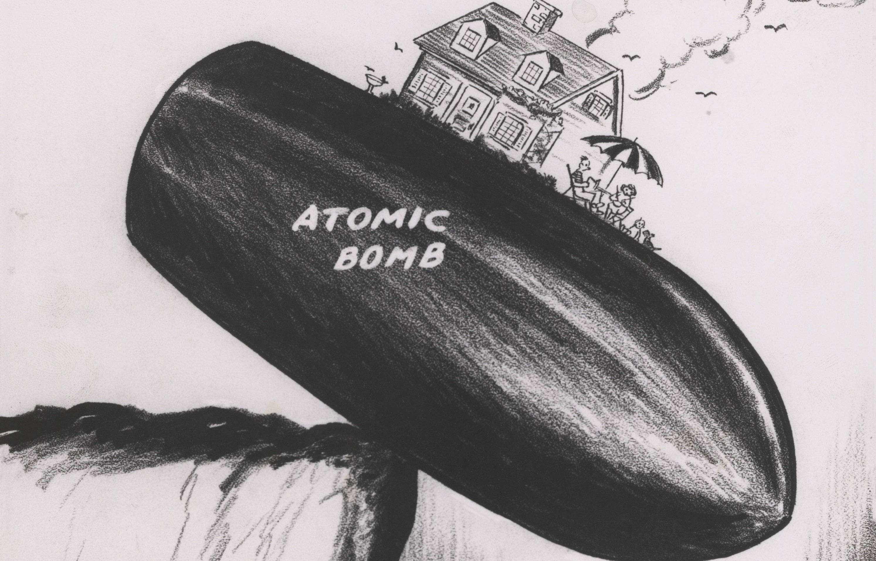 """From Rube Goldberg's Pulitzer Prize-winning his 1948 editorial cartoon """"Peace Today"""""""