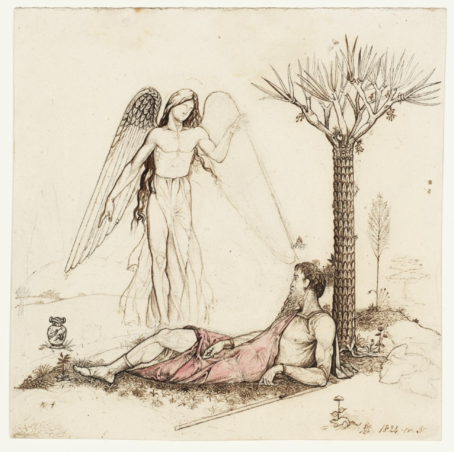 """""""Elijah and the Angel,"""" by George Richmond, ca.  1825 (Image/Tate CC BY-NC-ND 3.0)"""