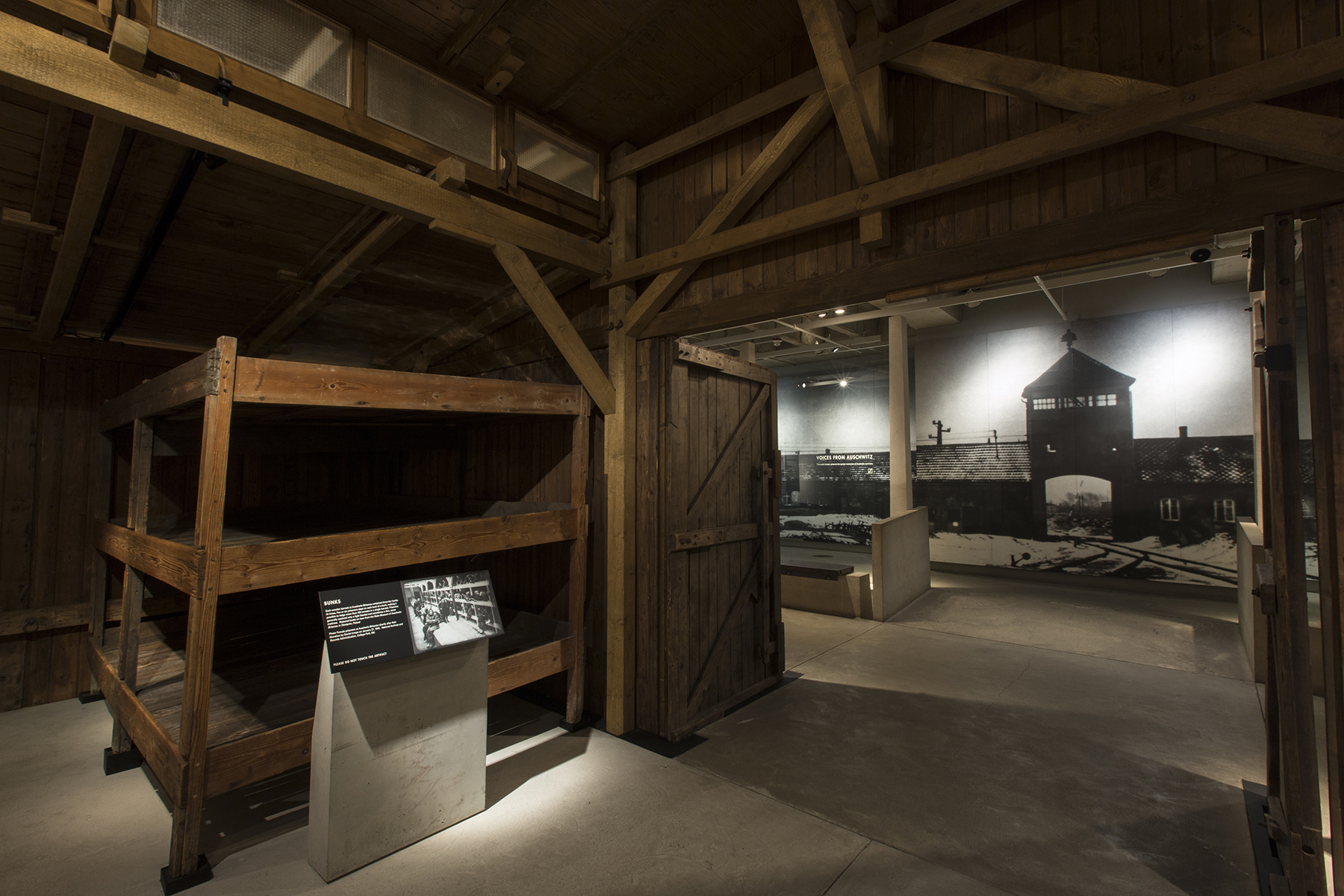 A view of the barracks from Auschwitz-Birkenau in the U.S. Holocaust Museum's permanent exhibition (Photo/Courtesy U.S. Holocaust Memorial Museum)