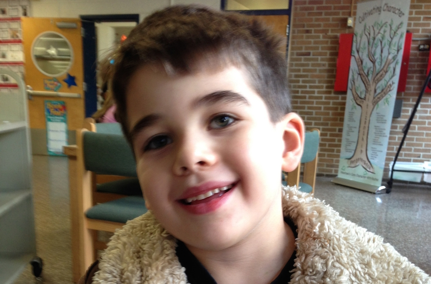 Noah Pozner, 6, was the youngest of 20 child victims of the Dec. 14, 2012 shooting massacre at the Sandy Hook Elementary School in Newtown, Conn., that also claimed six adults. (Photo/JTA-Courtesy Pozner family)