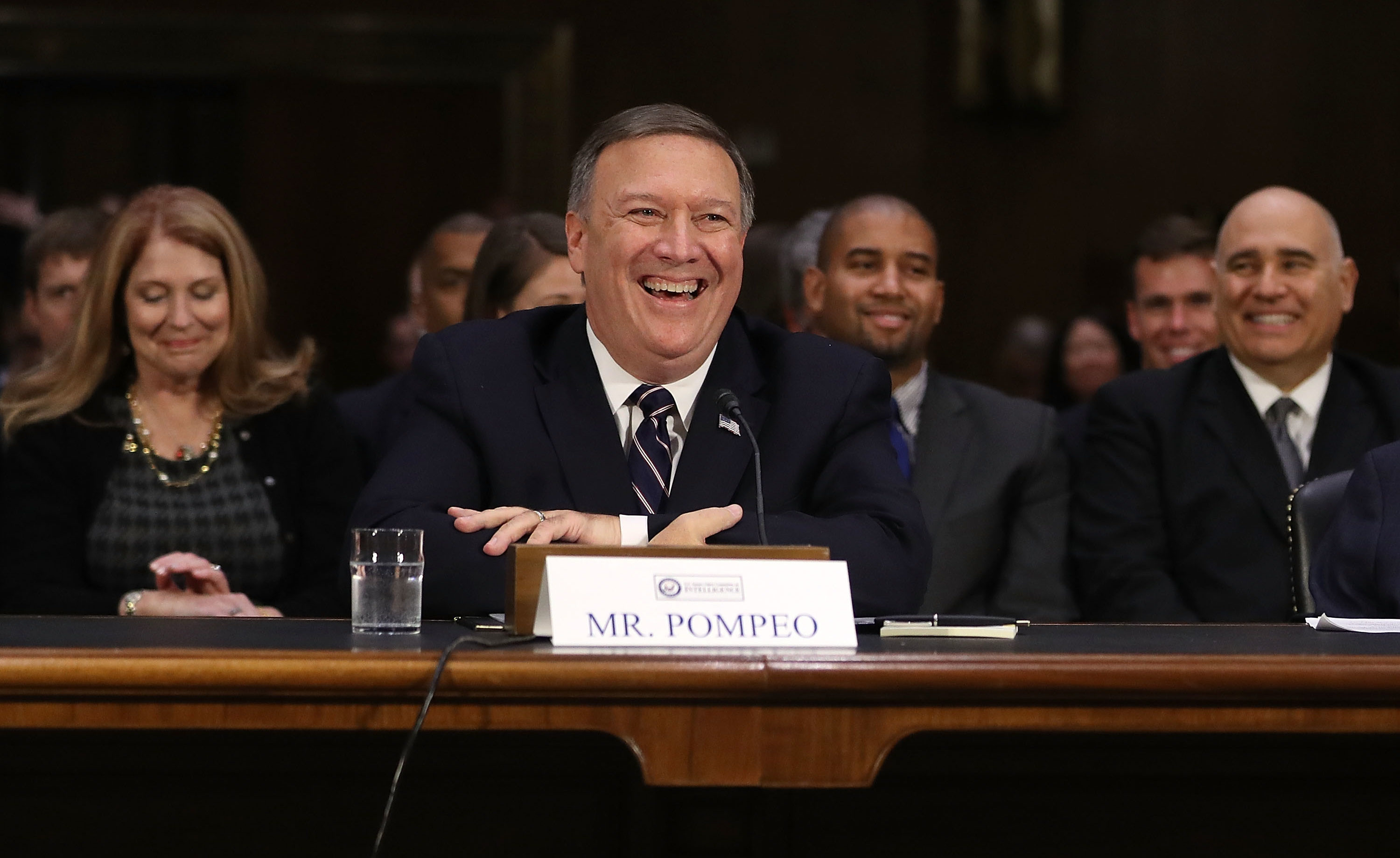 Mike Pompeo at a confirmation hearing before the Senate Intelligence Committee, Jan. 12, 2017. (Photo/JTA-Joe Raedle-Getty Images)