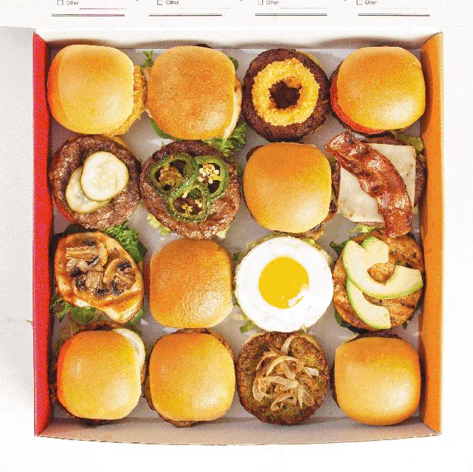 Mini-burgers from Israeli chain Burgerim (Photo/file)