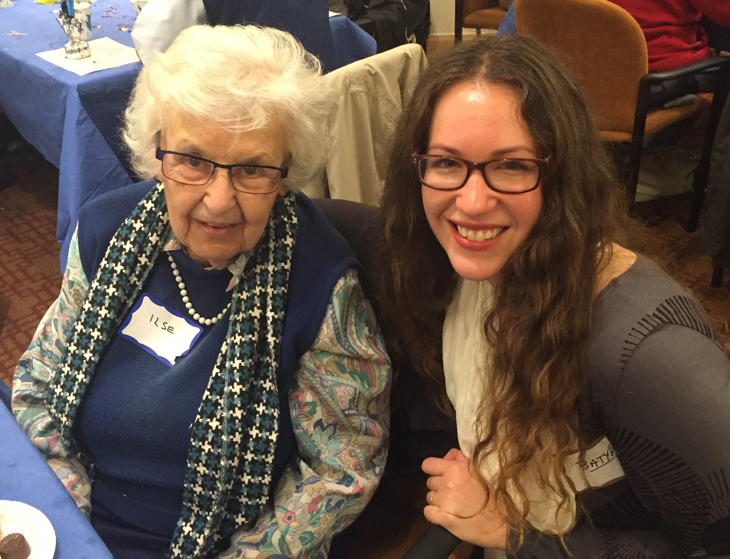 Ilse Bloch and Batya Ross — first- and third-generation survivors