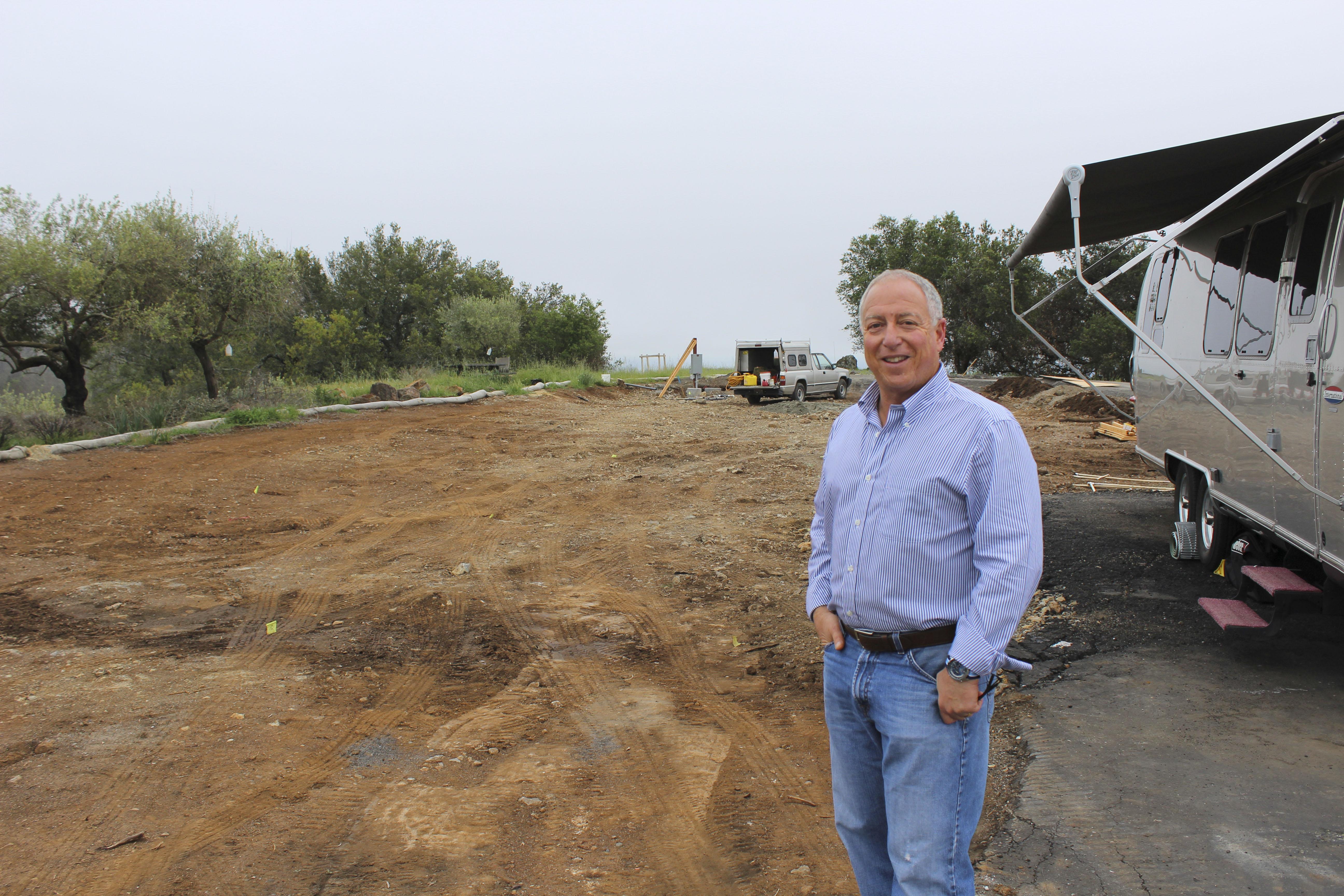 Jeremy Olsan on his property site north of Santa Rosa (Photo/Courtesy Olsan family)