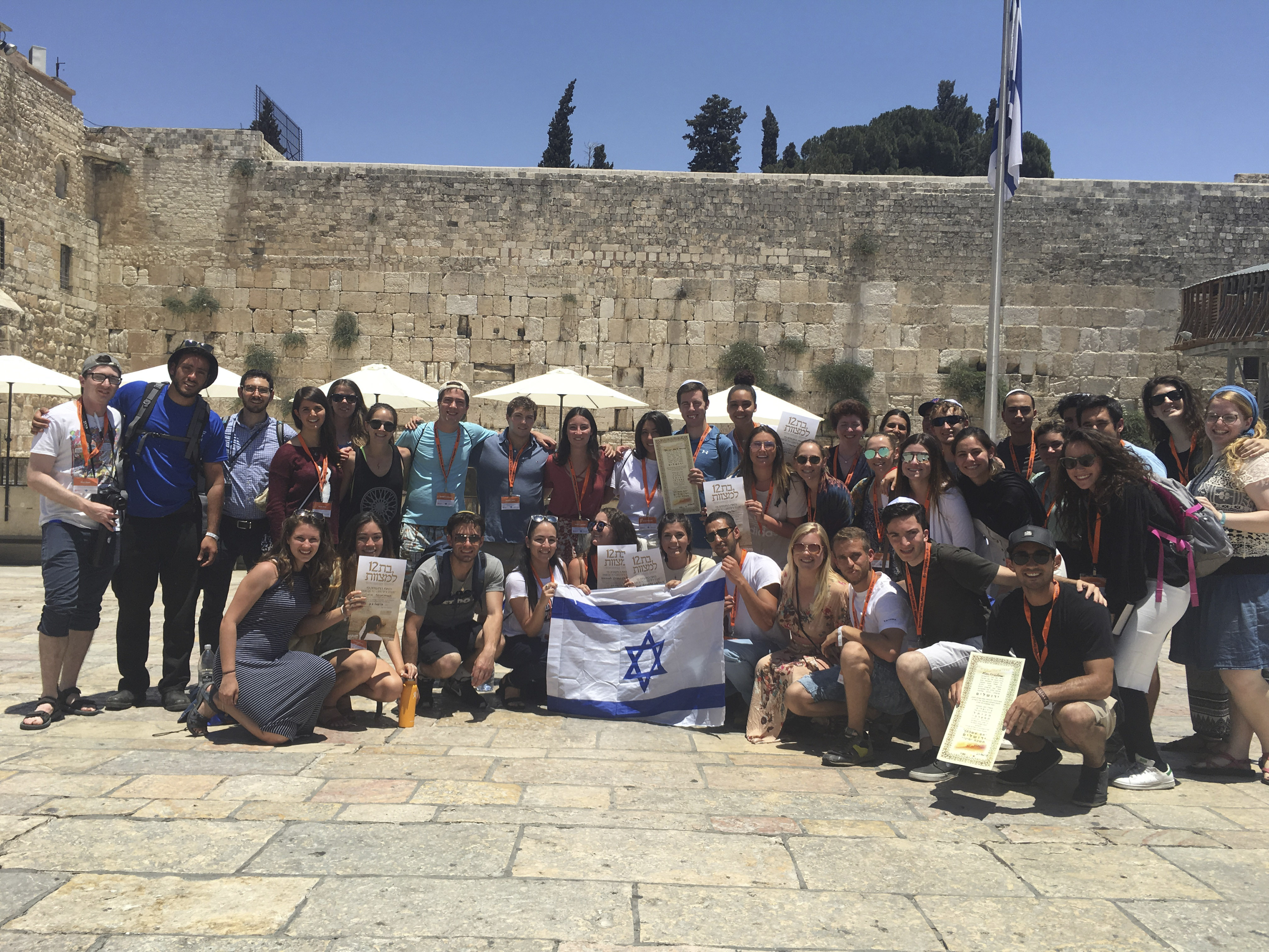Stanford University students in Jerusalem on a Birthright Israel trip in 2017.