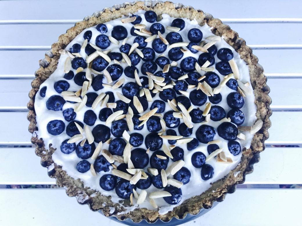 Faith Kramer's gluten-free Blueberry Yogurt Tart in Almond Crust (Photo/Faith Kramer)