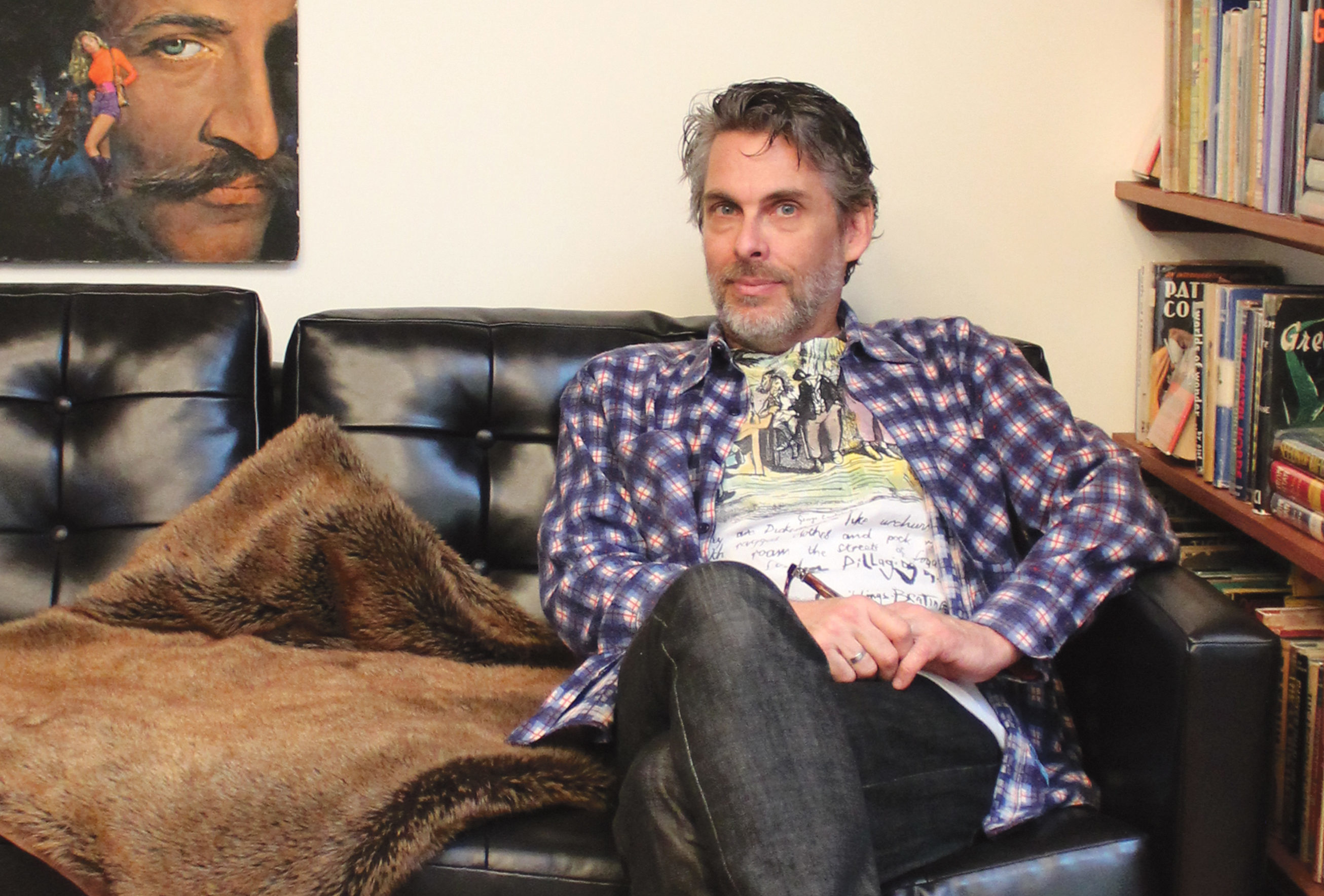 Michael Chabon at home in 2016 (Photo/Cathleen Maclearie)