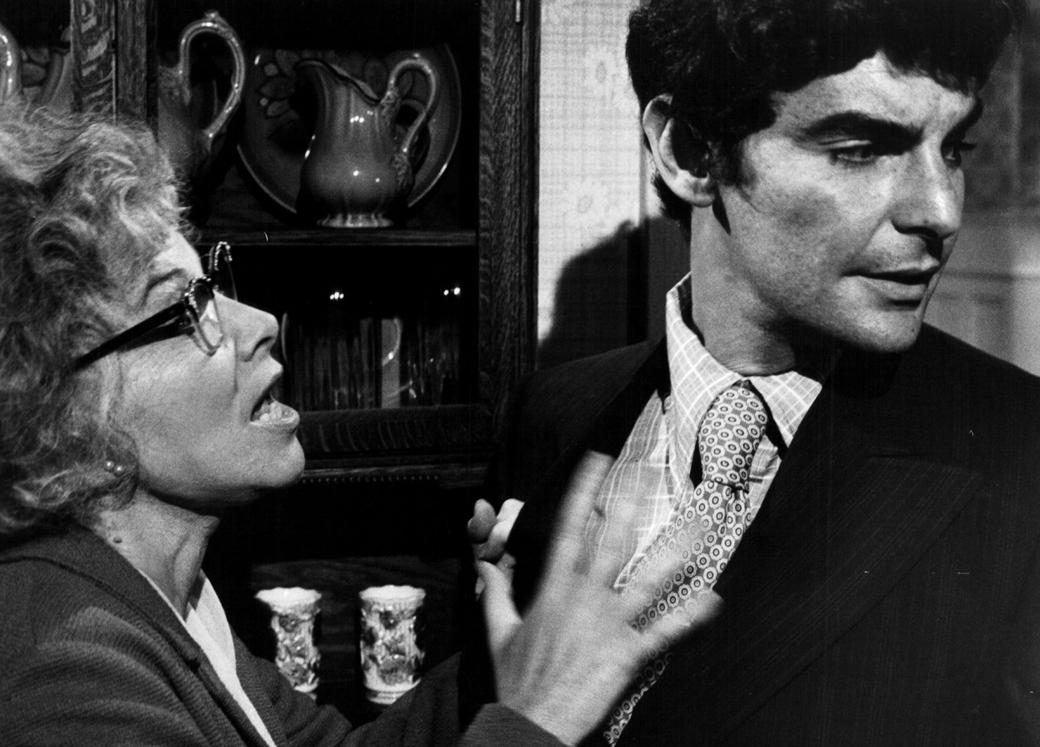 "Richard Benjamin, right, as Alexander Portnoy in a 1972 film adaptation of ""Portnoy's Complaint."" Lee Grant, on left, played Portnoy's mother. (Photo/JTA-Warner Brothers-Getty Images)"